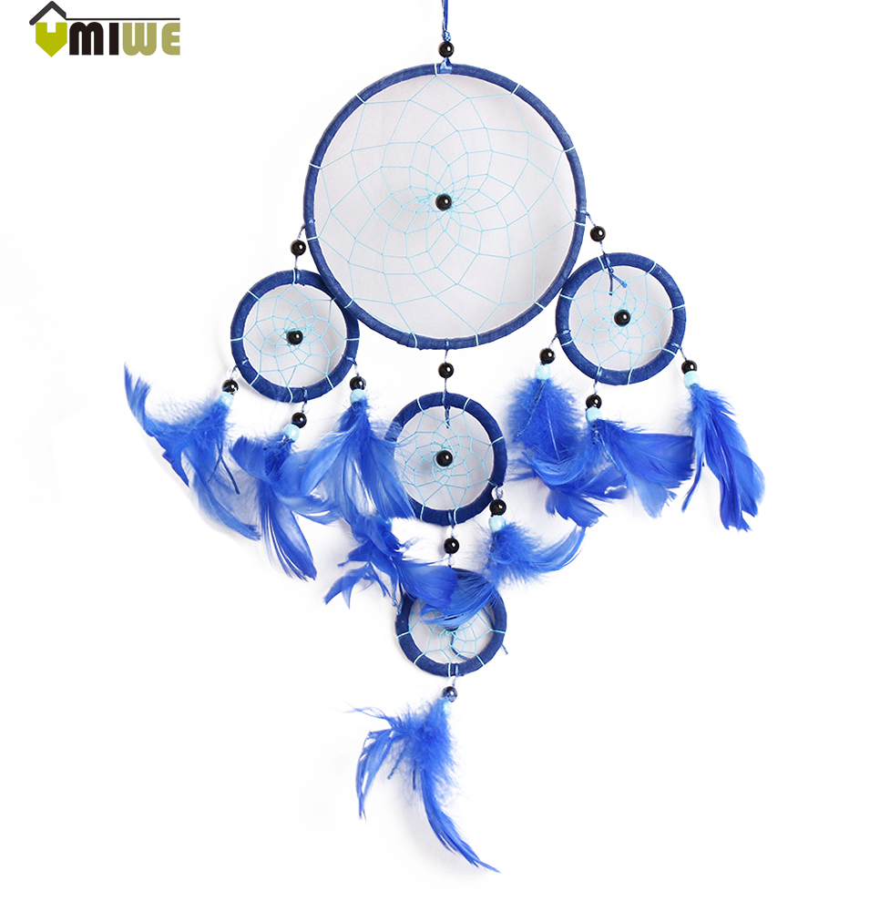 Umiwe Dreamcatcher Feather Pearl Ornaments Gift Handmade ...