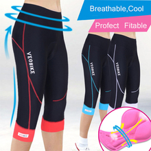лучшая цена 2018 Gel Padded Cycling Shorts Women Bicycle 3/4 Pants Mtb Sports Tight Summer Trousers Breathable Quick Dry Fitness Sportswear
