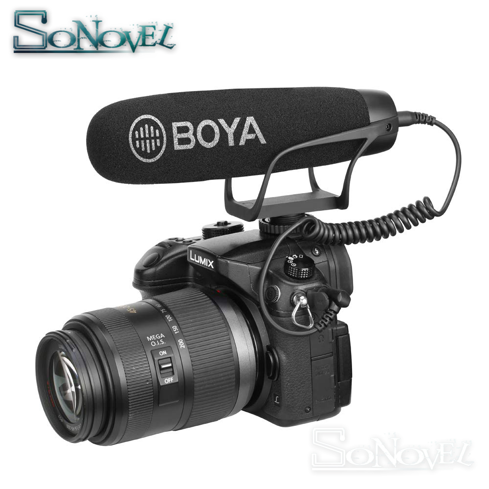 BOYA BY BM2021 Cardioid Shotgun Microphone with TRRS TRS Connectors for iOS Andrioid Smartphone DSLR Camera Camcorder PC in Microphones from Consumer Electronics