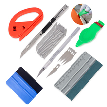 EHDIS Vinyl Car Wrap Carbon Fiber Film Card Scale Squeegee Scraper Cutter Knife Auto Sticker Wrapping Accessories Tool Kit