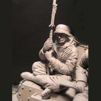 1/16 Soldiers In The War of World War II Military Normandy War Resin Personage Model