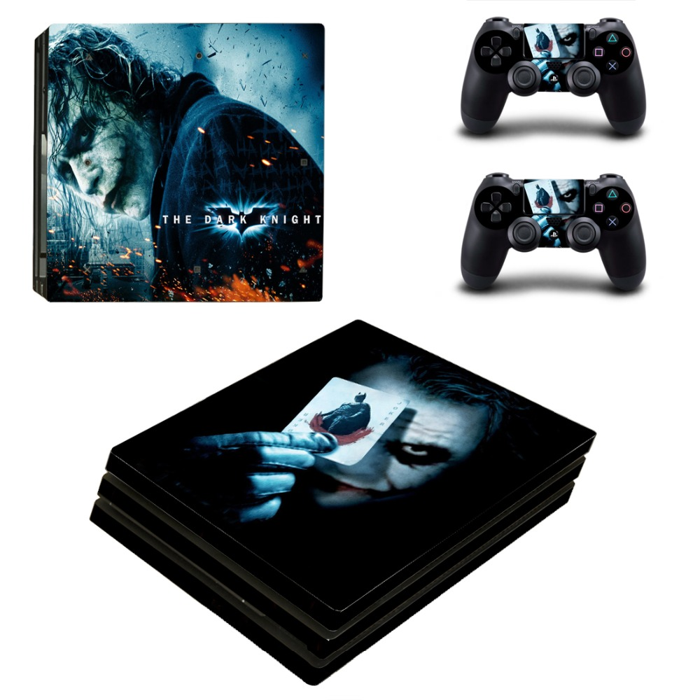 OSTSTICKER Bat man Vinyl Skin Sticker for Sony PS4 Pro Console and Controllers Skins Decal