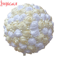 Top Selling Handmade Pearl Bridal Bouquet Ivory White Wedding Flowers Bridal Bouquets Cheap Wedding Bouquets For