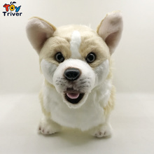 Plush Welsh Corgi Pembroke Dog Toy Triver Stuffed Animal Doll Puppy Kids Baby Birthday Gift Present Home Shop Decoration Craft все цены