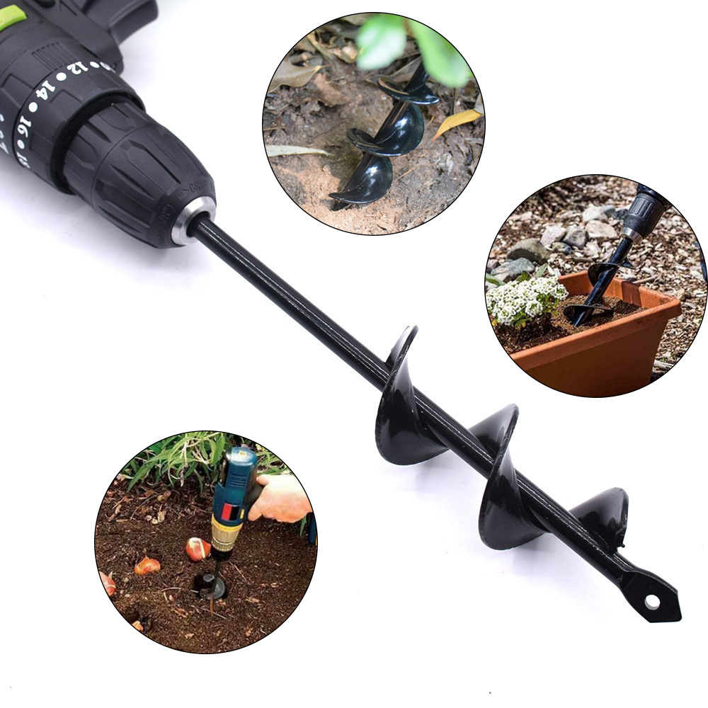 9 /18 Inch Yard Screw Bit  Planting Irrigation Soil Drilling Excavator Speed Planter Woodworking Machinery Parts And Components