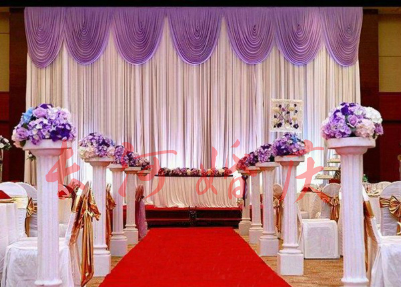 Order: 1 Piece. Wedding 4mx8m Backdrop Luxurious Wedding Supplies  Decorations Wedding Stage Backdrop With Beautiful Swag Fabric Curtain(