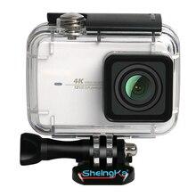Топ предложения ShelngKa Дайвинг защитный корпус водонепроницаемый чехол 40 м для Xiaoyi 4 к Xiaomi II/Yi Lite Экшн камера с кронштейном