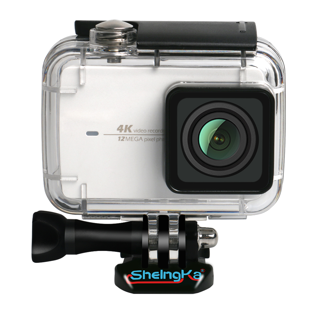 Top Deals ShelngKa buceo de protección de vivienda caso impermeable 40 m para Xiaoyi 4 K Xiaomi II/Yi Lite acción cámara con soporte