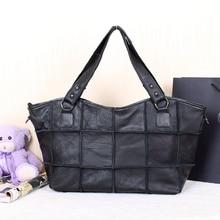 Free shipping Cowhide patchwork women s handbag genuine leather one shoulder cross body women s handbag