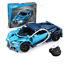 419pcs Technic Series Super Blue Sports RC Car Set DIY Building Blocks Bricks Model fit Racing Cars Toy with Gift Box