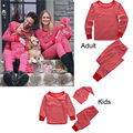 New Children Family Matching Christmas Pajamas Sleepwear Nightwear Pyjamas 2016 Fashion Baby Pajama Set Baby Winter Clothing Set