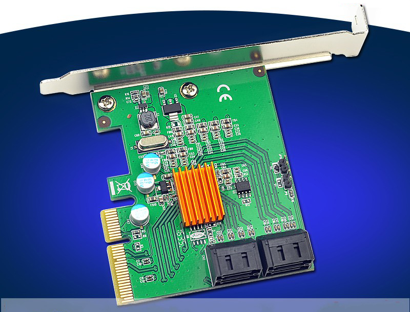 все цены на  4 Ports SATA3.0 6Gb PCIe Raid Card 88SE9230 Chipset Support RAID 0 1 10 Hyperduo  в интернете