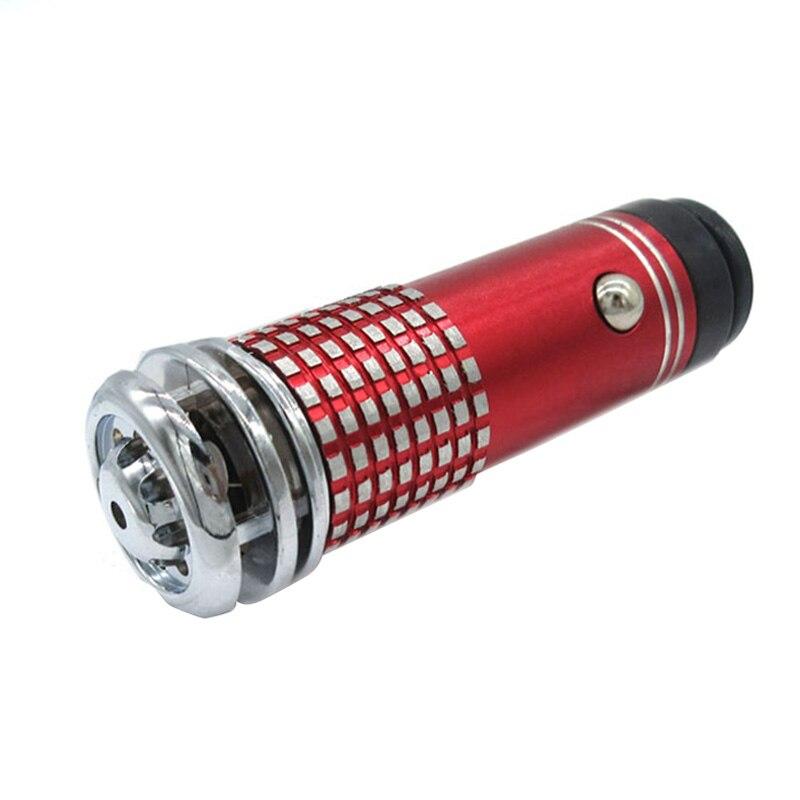 Мини автомобильный очиститель воздуха DC 12 В Анион ионизатор очиститель освежитель портативный автомобильный очиститель запаха - Цвет: Красный