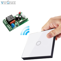 Vhome EU Touch Switch Light Remote Control RF 433mhz Wireless Glass Panel Wall Stickers Sensor Transmitter