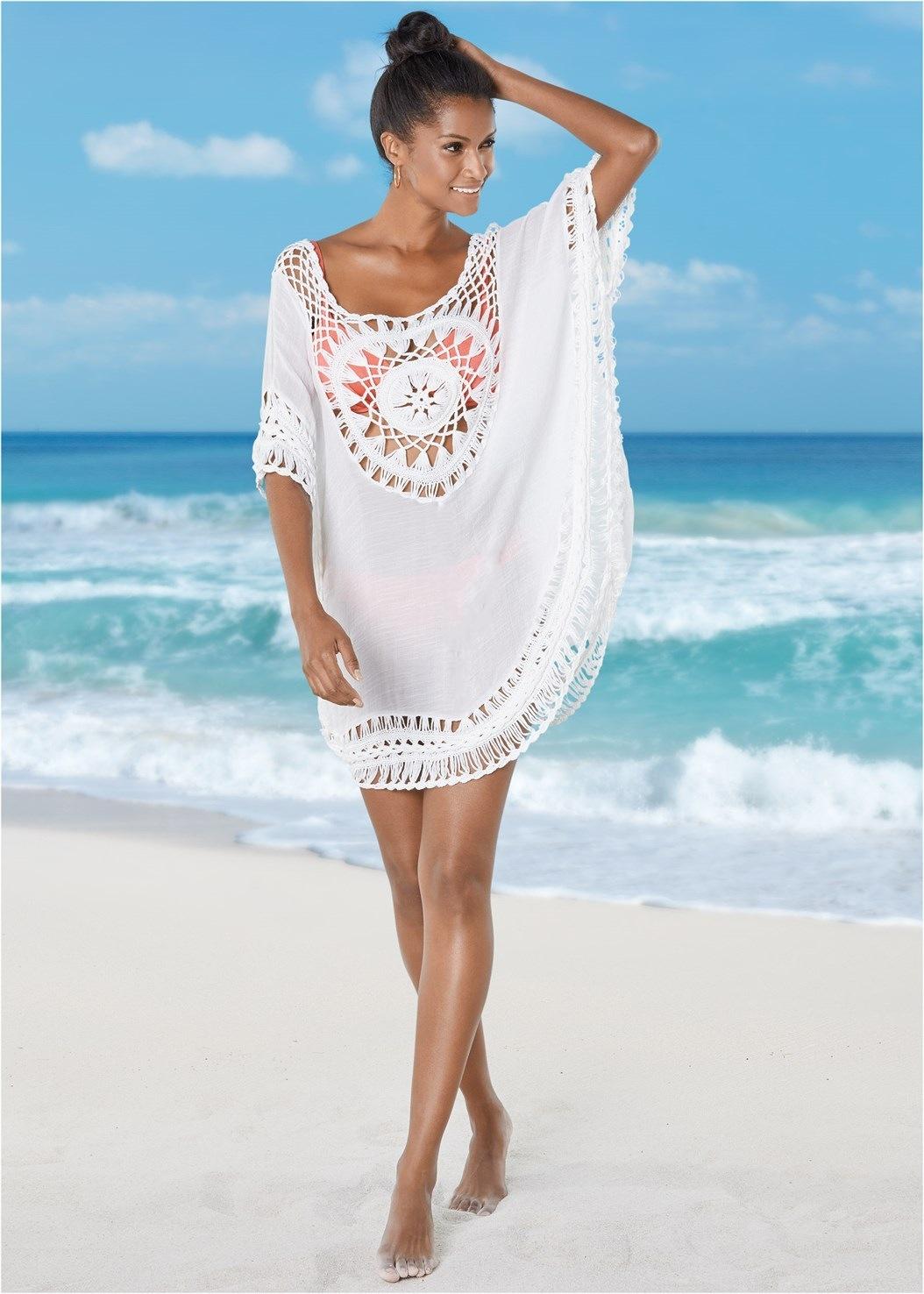 4184c592c1f5 Abrigos Saida De Playa Larga salidas túnicas Mujer bañista De baño cubrir  hasta el 2019 nuevos ganchos más camiseta De ropa traje de baño
