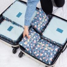 Nylon Verpackung Würfel Reisetasche-System Dauerhaft 6 Stücke Ein Satz Große Kapazität Von Taschen Unisex Kleidung Sortierung Organisieren