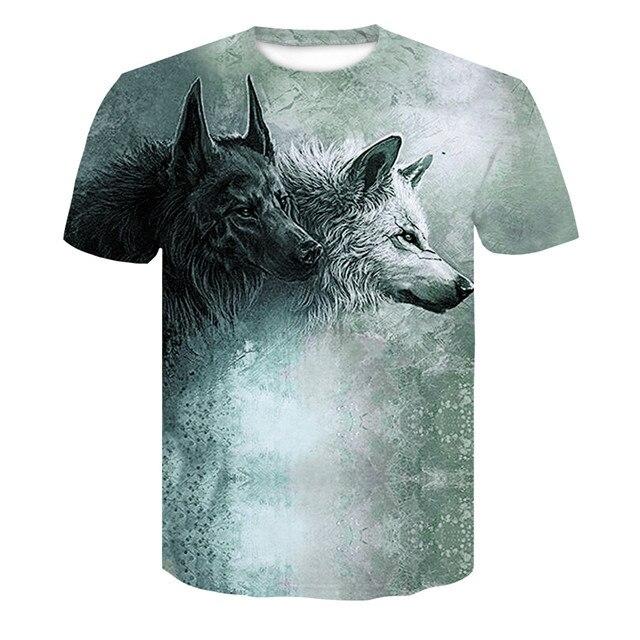 293bcafe99c Novelty 3D men wolf t-shirt Cool wolf Printed t shirts summer 3D ...