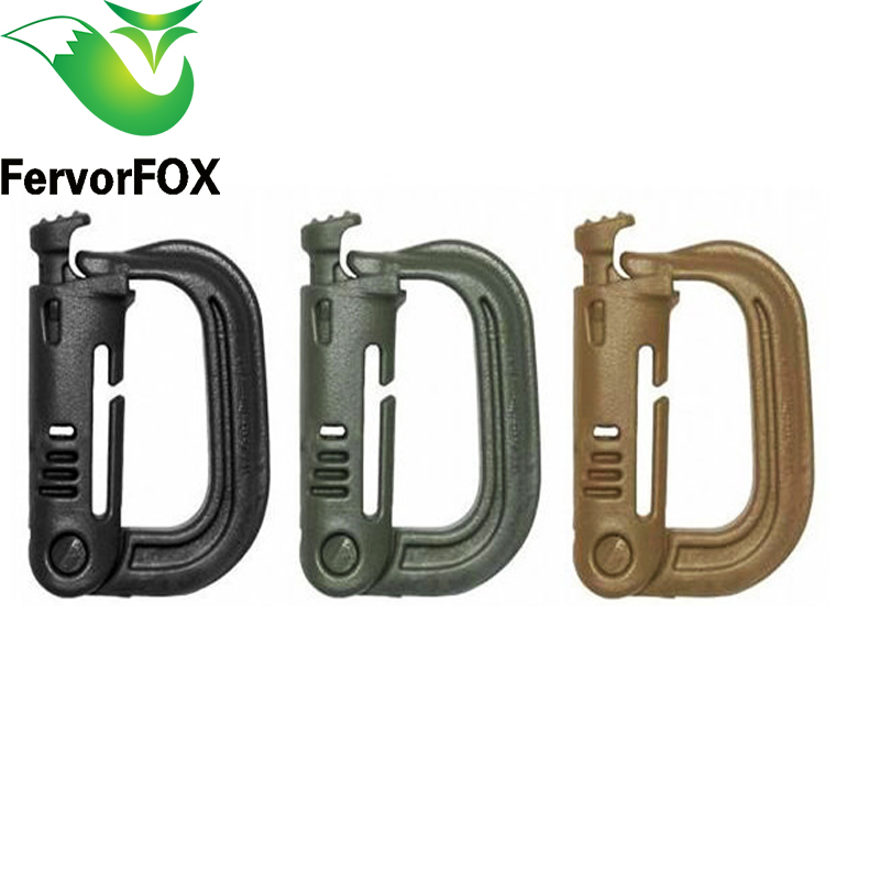 High Quality Outdoor 1 Pcs / Lot Paracord Keychain Shape Carabiner Webbing Belt / Strap Bergen Rucksack ITW Ghillie