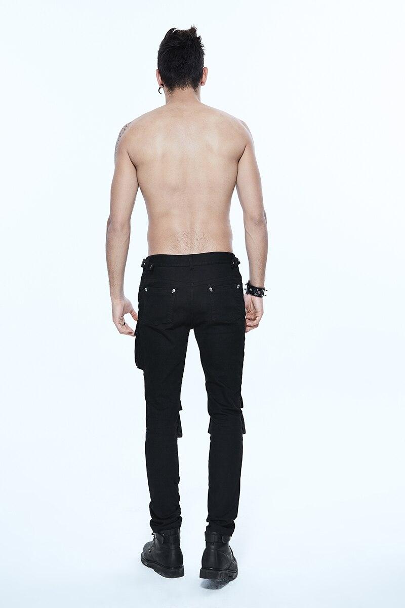 Punk hip-hop grosso removível bolso calças steampunk
