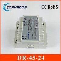 (DR-45-24) 45 W 24 V fonte de alimentação interruptor (85-264VAC entrada) 45 W 24 v dc din rail power supply frete grátis