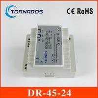(DR 45 24) 45W 24V switch power source (85 264VAC input) 45W 24v dc din rail power supply free shipping