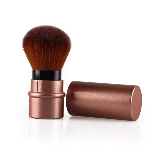 Mini retráctil base de maquillaje en polvo Blush belleza cepillos cosméticos de viaje TF