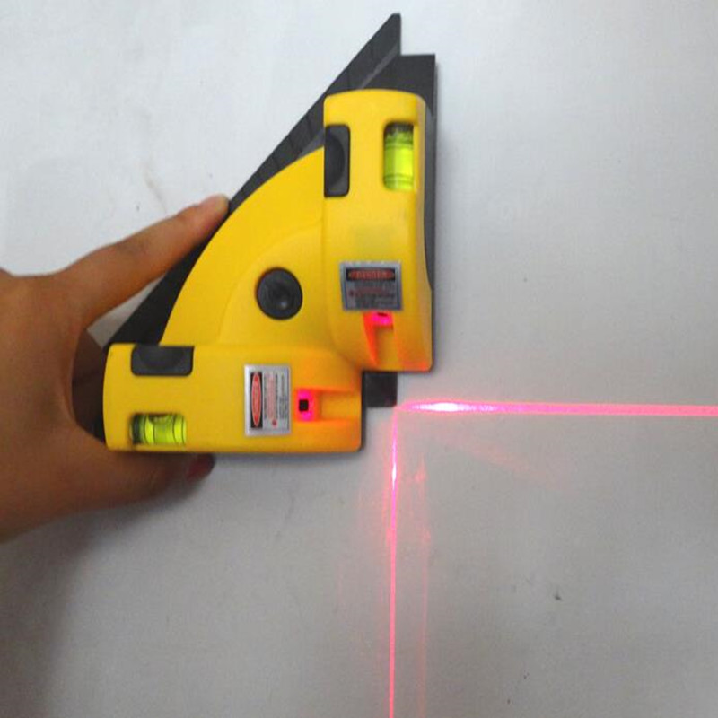 New Vertical Horizontal laser level line right angle 90 degree vertical horizontal laser Measuring Tools Nibbler