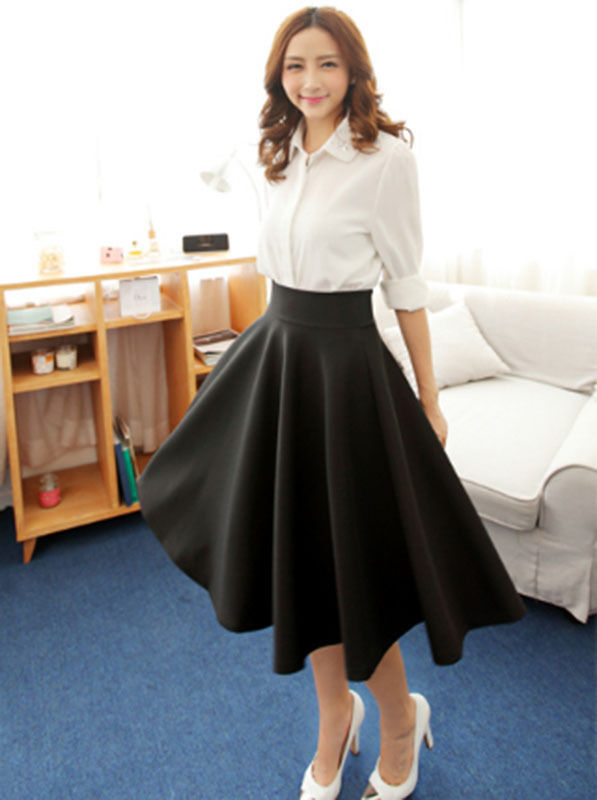 High Waisted Full Skirt - Skirts
