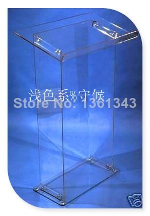 Hot SellingDetachable Clear Acrylic Lectern / Acrylic Podium Stand / Crystal Acrylic Pulpit