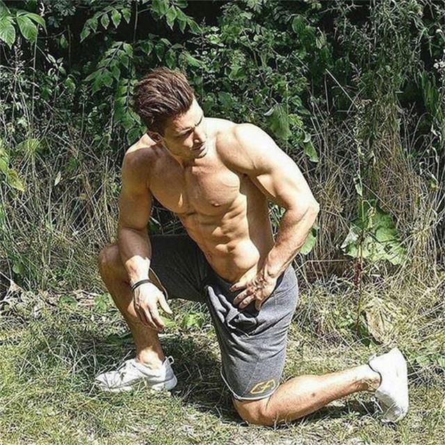 Men Shorts Men's Slim fit Fitness Bodybuilding Jogger Mens Brand durable Sweatpants Fitness Workout fashion Cotton Short Pants