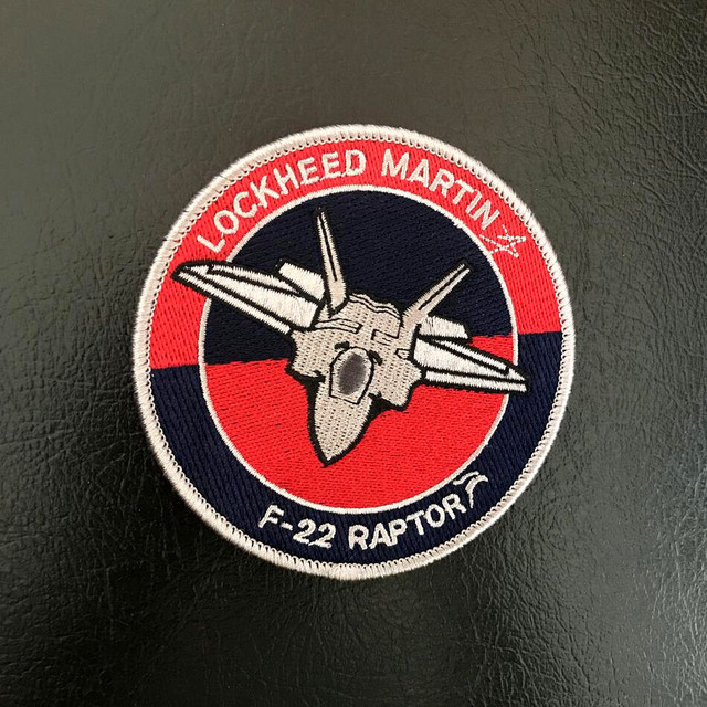 US $41 9 8% OFF|20pcs LOCKHEED MARTIN Patch Embroidery Tactical Badge Hook  Military Armband Army Emblem F22 RAPTOR Combat Brassard 10cm-in Patches