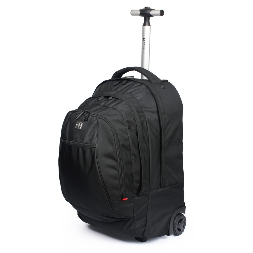 Aliexpress.com : Buy wisswin Swiss Gear Wheeled Backpack Black ...