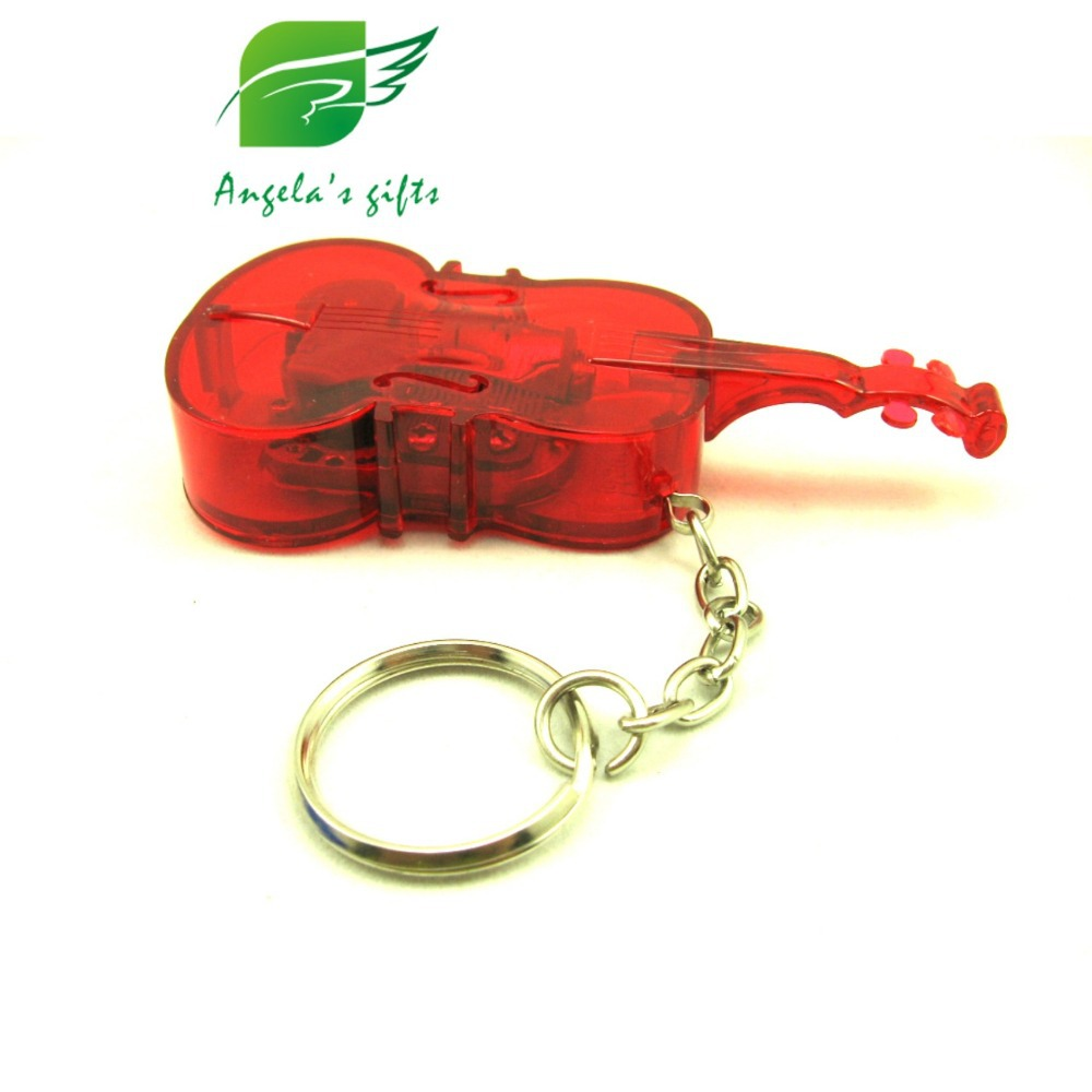 Plastic Violin keyrings music box 18 Notes wind up music box keychain present wedding souvenir free shipping Angelas gifts
