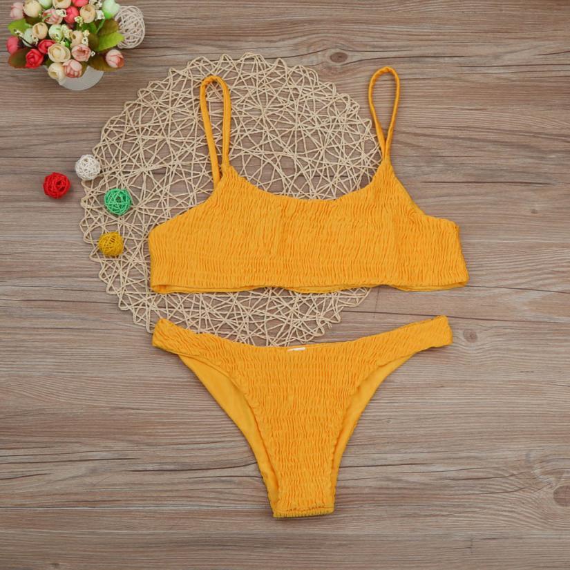 Beautiful Women Bandage Push-up Padded Bra Bikini Set Swimsuit Swimwear Bathing Womens Swimsuits Sexy Cross Swimwear Biquini
