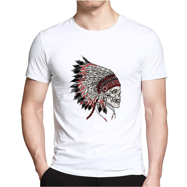 Creative Skull Print T-shirt For Men Casual Fashion Hip hop Short sleeve t shirt Male Tee Tops Man Summer style Hipster Clothing