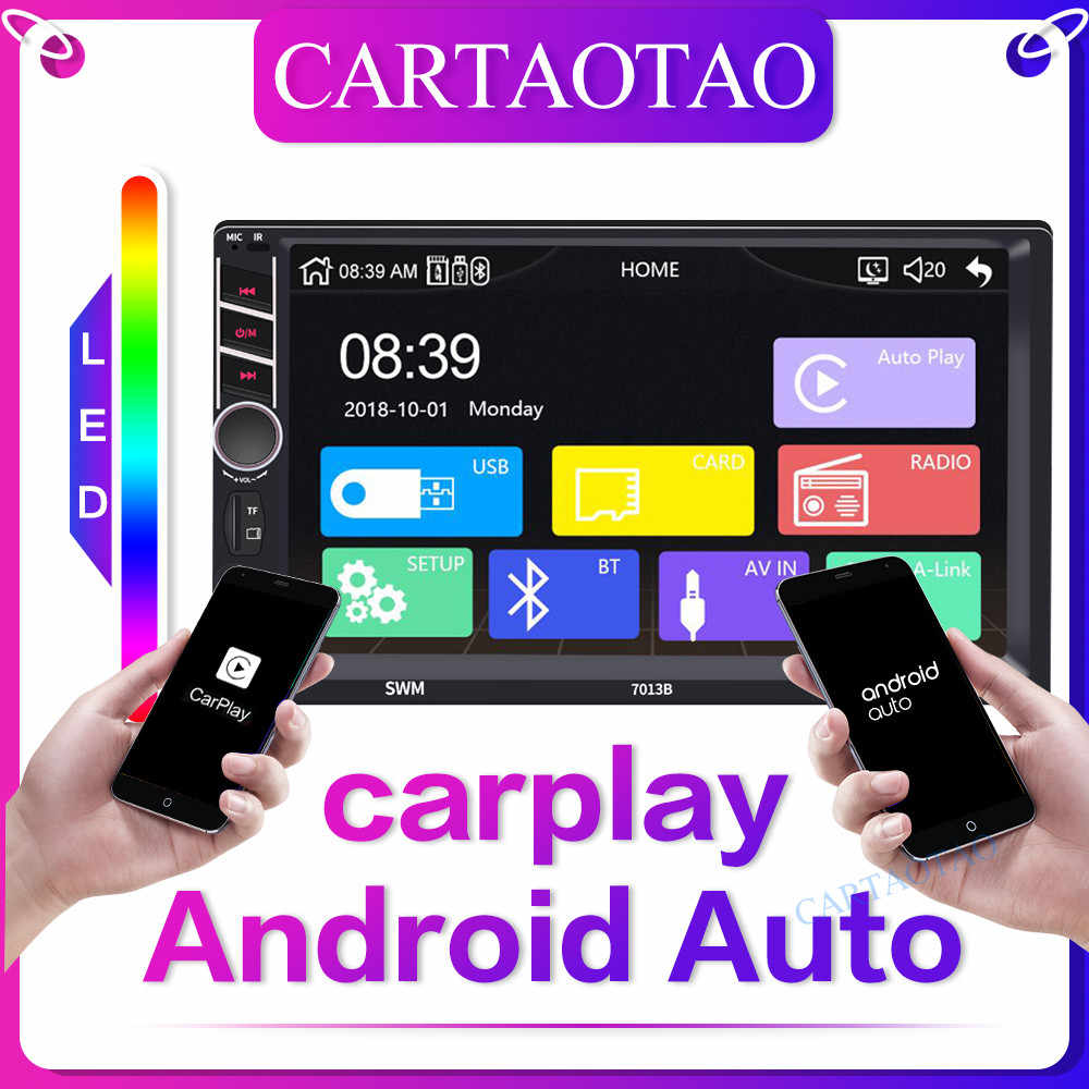 "2 din Car radio 7""HD Touch Screen Player mirrorlink Android Carplay MP5 SD/FM/USB/AUX/Bluetooth Car Audio For Rear View Camera"