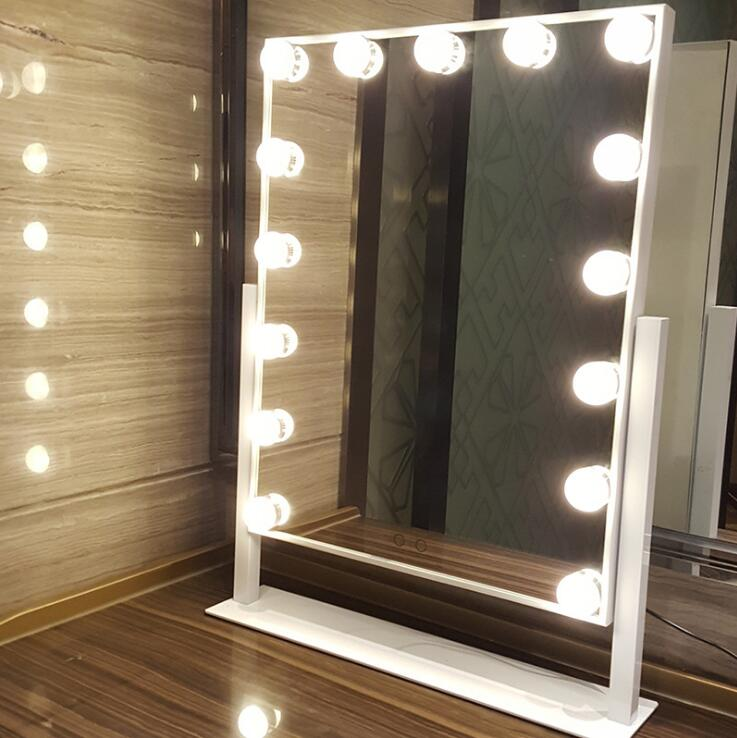 Hollywood Makeup Vanity Mirror With Light Tabletops Lighted Dimmer Stage Beauty Valentine S Day Gift In Face Skin Care Tools From
