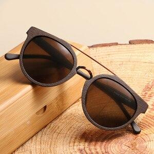 Image 2 - Vintage Acetaat Hout Zonnebril Voor Mannen/Vrouwen Hoge Kwaliteit Gepolariseerde Lens UV400 Klassieke zonnebril