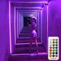 Thrisdar 360 градусов 10 Вт RGB светодиодный оконный порог дверь рамка настенный светильник с удаленным отельным KTV коридор прохода луч линии стены ...