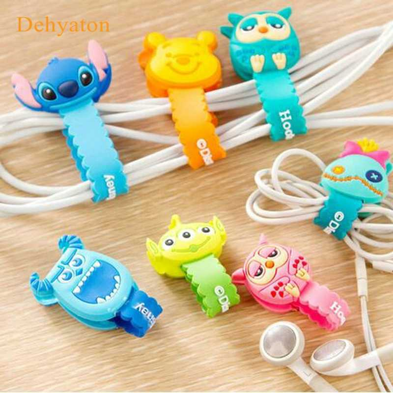 Dehyaton Cartoon Kabel Organizer Spoelopwinder Protector Draad Koord Management Houder Cover Voor Oortelefoon iPhone Sansung MP3 USB