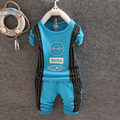 El bebé arropa 2015 otoño invierno Spiderman niños que arropan el sistema t-shirt + pants 2 unids traje Chándal Ropa recién nacido trajes del deporte