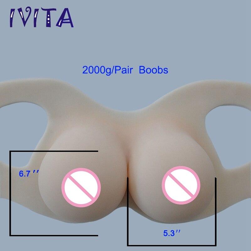 IVITA 2000g 흰색 새로운 디자인 실리콘 유방 양식 가짜 유방암 트랜스젠더 트랜스 게더 쉬 메일 가짜 유방에 대한 가짜 가슴