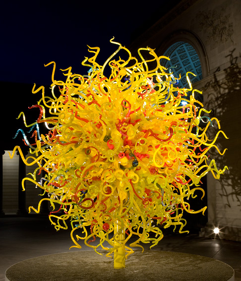 Chihuly The Sun Series Blown Glass Sculpture Hotel Garden Pools Decor Art Glass Sculpture In