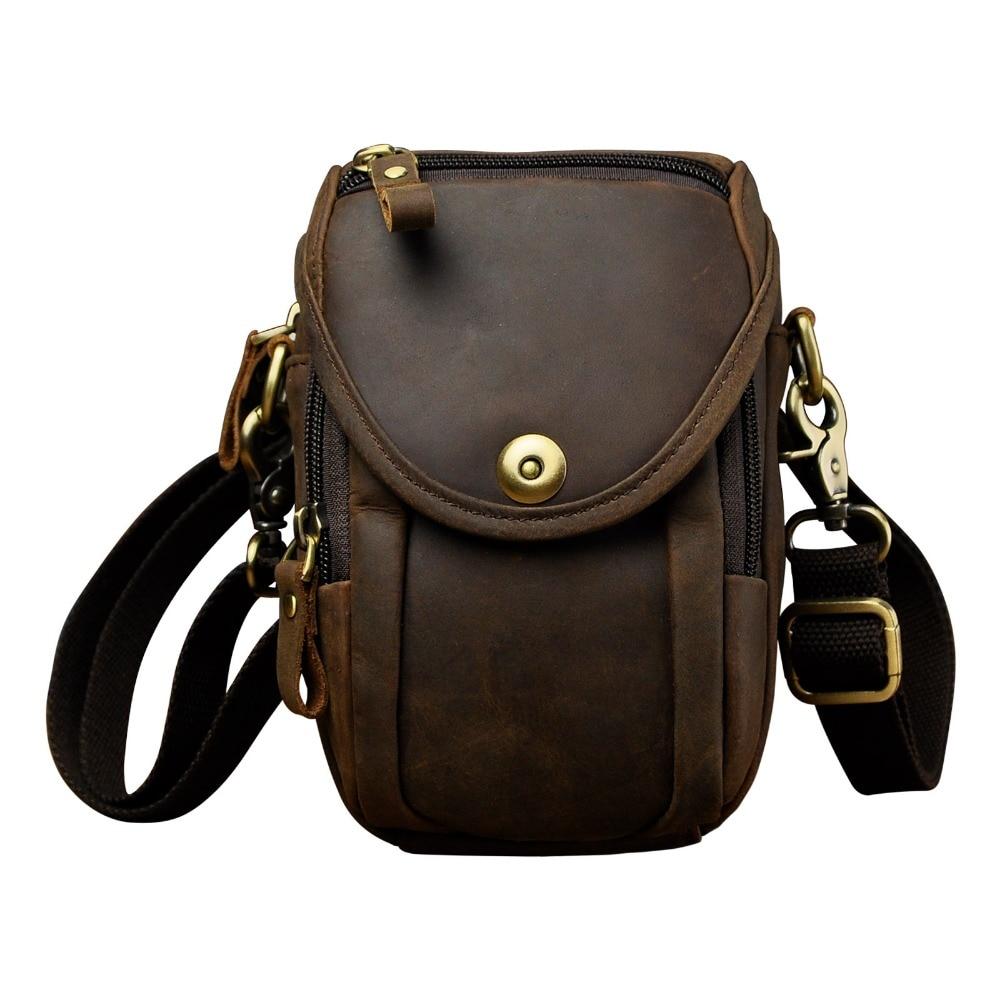 Mode äkta läder multifunktion sommar påse krok midja pack - Bälten väskor - Foto 1