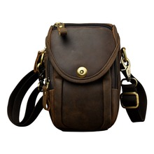 Fashion Real Leather Multifunction Summer Pouch Hook Waist Pack Cross-body Bag Cigarette Case 6 Phone Belt 269g
