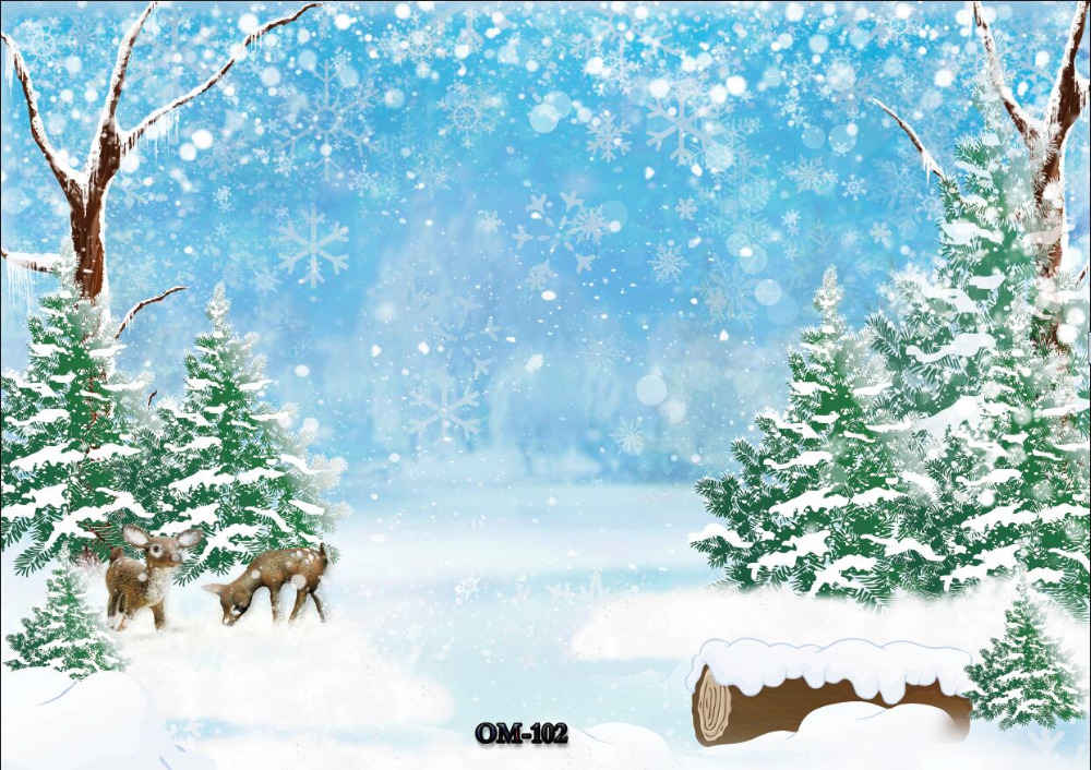SHENGYONGBAO Art Cloth Photography Backdrops Prop Christmas Winter theme Photography Background OM 103 in Background from Consumer Electronics