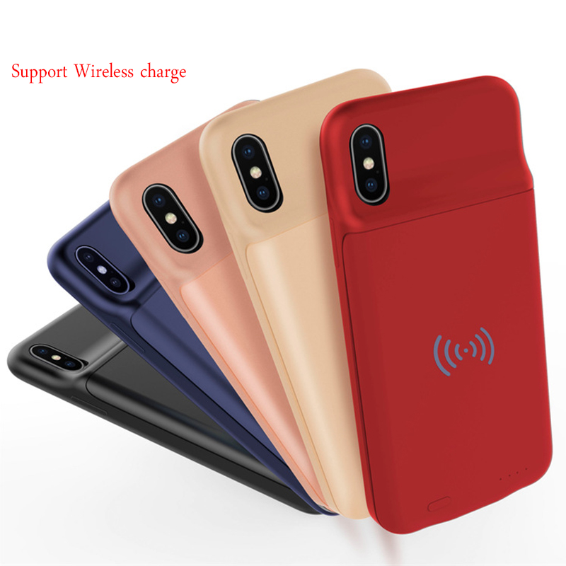 Ultra-Thin Shell For iphone X 3600mAh External Power Bank Back Pack Battery Charger Adapter Case Cover support wireless charging