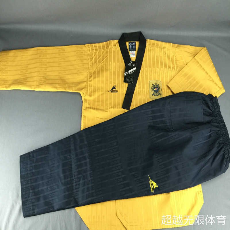 WTF Master Taekwondo Dan Poomsae uniforms TAISHAN potential high-end fabric SCIC highest top quality taekwondo doboks itf full embroidery taekwondo clothing standard plain 1 3 dan assistant instructor doboks 4 6 dan instructor uniforms wholesale