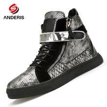 Luxury High Top font b Men s b font font b Shoes b font Fashion zip