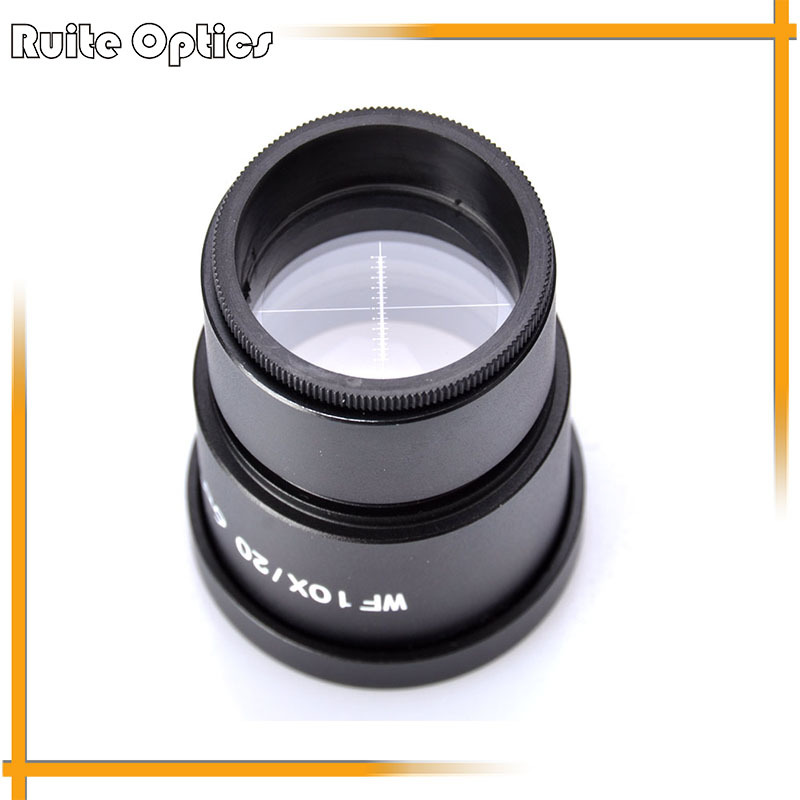 Pair of Widefield WF10X 20mm Eyepiece with Reticle for Compound Stereo Microscope ( 30MM Diameter)  цены